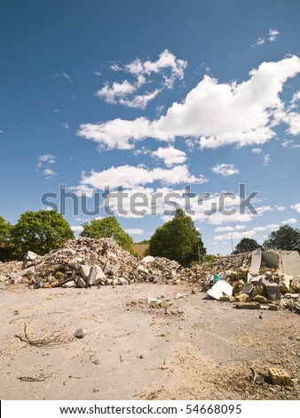 Demolished Neighborhood on a sunny day