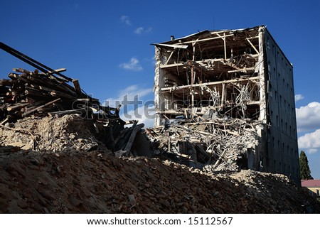 demolition - stock photo