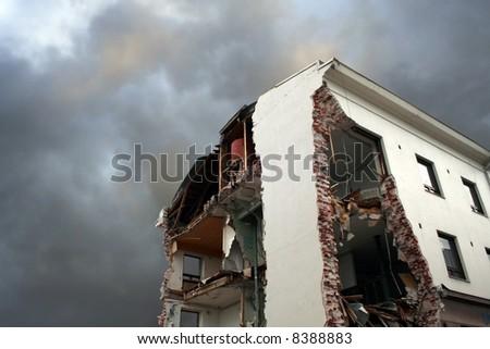 demolition - stock photo