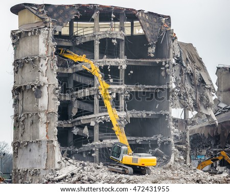demolition of industrial building