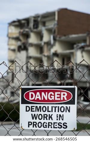 demolition site - stock photo