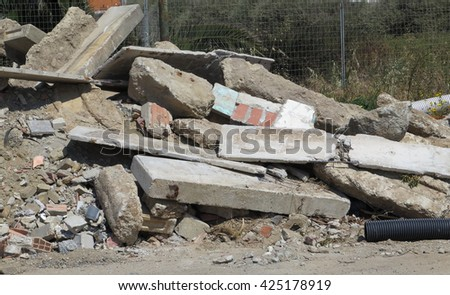 Demolition work - stock photo