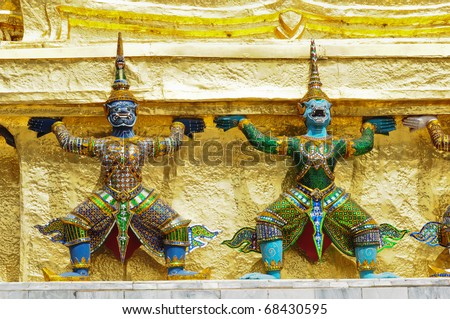 Demon Guardian Statues at Wat Phra Kaew