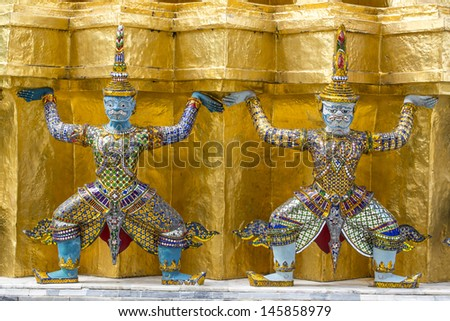 Demon Guardian ,the Emerald Temple, Grand Palace Bangkok