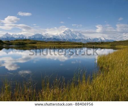 Denali Reflection - stock photo