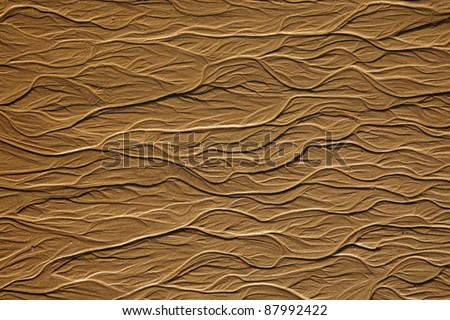 dendriform texture on sand on ocean beach - stock photo