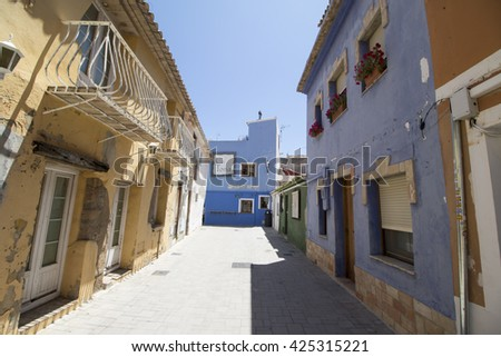 Denia old town in  Alicante on May 21, 2016 in Mediterranean sea Spain