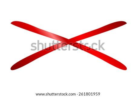 denial symbol - stock photo