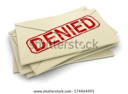 Denied letters  (clipping path included)