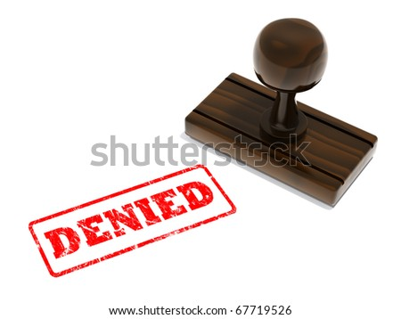 Denied rubber stamp - stock photo