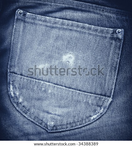 Denim Back Pocket - stock photo