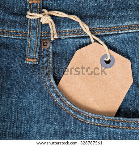 Denim close-up - stock photo