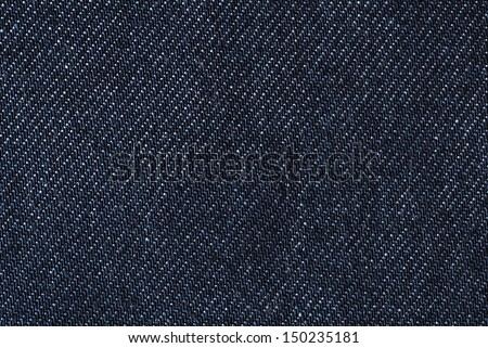 denim cotton jeans fabric detail - stock photo
