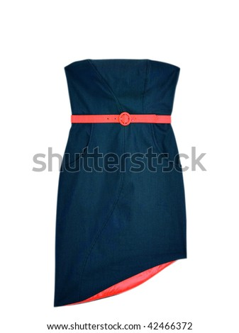 Denim Dress - stock photo