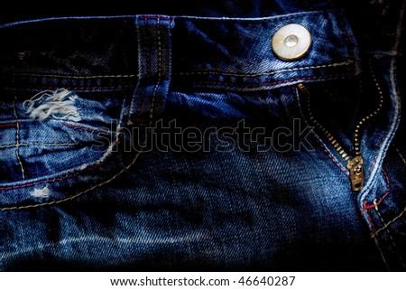 Denim jeans pocket. background - stock photo