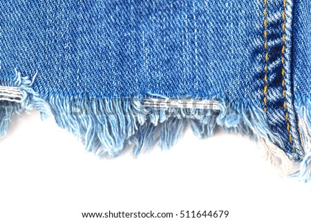 https://thumb7.shutterstock.com/display_pic_with_logo/1769528/511644679/stock-photo-denim-jeans-ripped-destroyed-torn-blue-edge-on-white-background-text-place-511644679.jpg