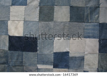 Denim Quilt Texture 2 - stock photo