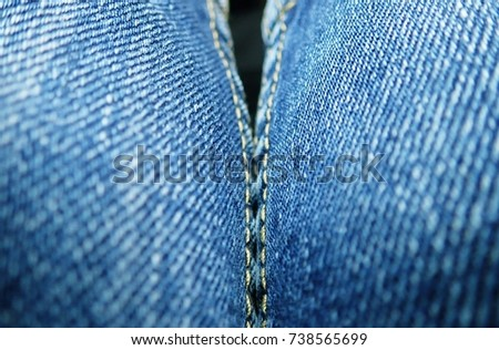 Denim texture closeup background top view angle