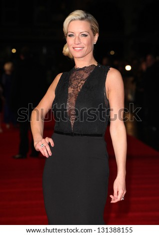 Denise Van Outen arriving at the UK premiere of Run For Your Wife, at the Odeon Leicester Square, London. 05/02/2013 Picture by: Alexandra Glen