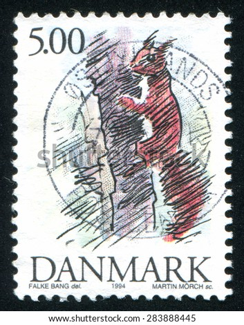 DENMARK - CIRCA 1994: stamp printed by Denmark, shows Squirrel, circa 1994