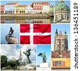 Denmark collage - stock photo