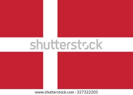 Denmark flag background illustration of european country - stock photo