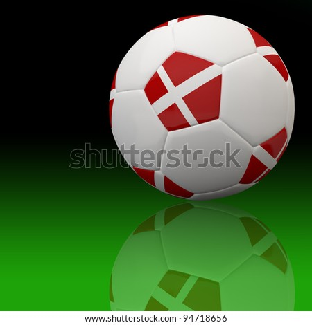 Denmark flag on 3d football for Euro 2012 Group B