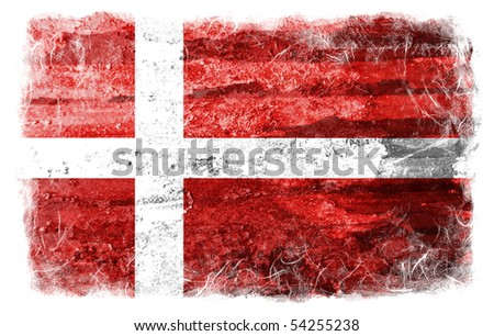 Denmark grunge flag - stock photo