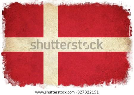 Denmark grunge Republic flag background illustration of european country - stock photo