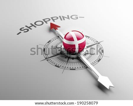 Denmark High Resolution Shopping Concept - stock photo