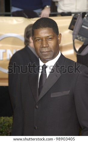 DENNIS HAYSBERT at the 10th Annual Screen Actors Guild Awards in Los Angeles. February 22, 2004