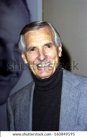 Dennis Weaver at a ceremony honoring Karl Malden with the EUGENE O'NEILL THEATER CENTER MONTE CRISTO AWARD, Beverly Hills, CA, November 11, 2004 - stock photo