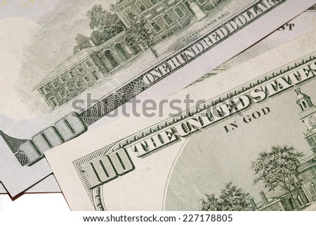 denominations of denomination of one hundred dollars of new and old model