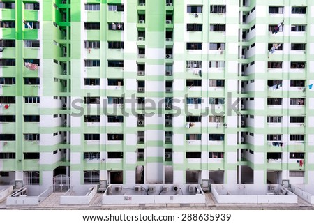 Dense HDB Housing, in Singapore - stock photo