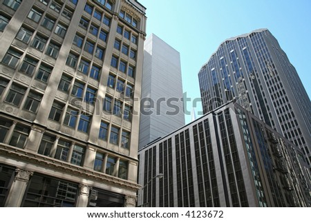 Density of financial district - stock photo