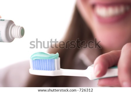 Dental care concept: brush your teeth - stock photo