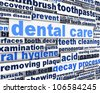 Dental care message design. Dental hygiene conceptual design - stock vector