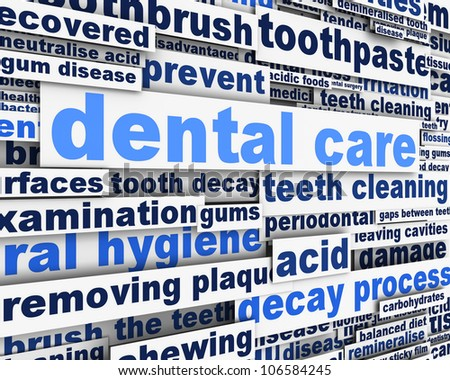 Dental care message design. Dental hygiene conceptual design - stock photo