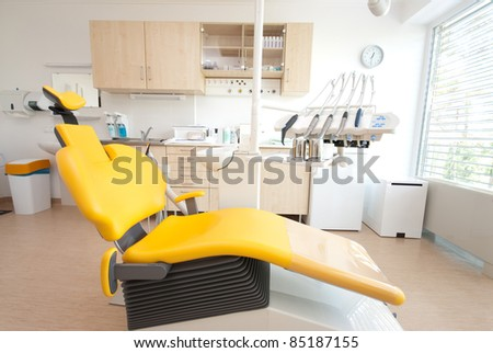Dental chair - stock photo