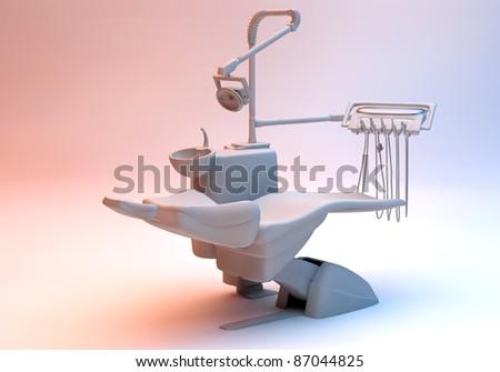 Dental chair - stock photo