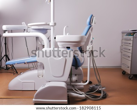 Dental clinic with  Medical equipment - stock photo
