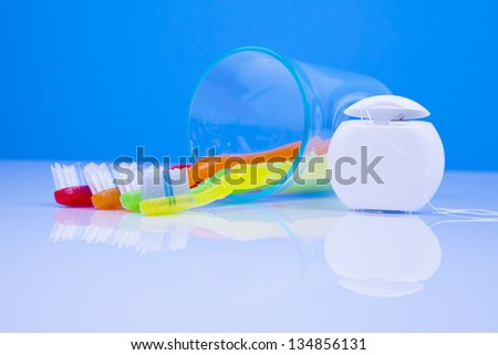 dental health care items - stock photo
