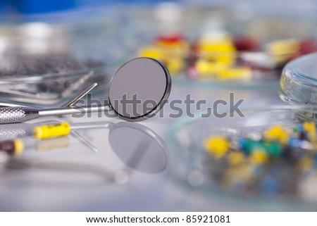 Dental medicine, Stomatology equipment - stock photo