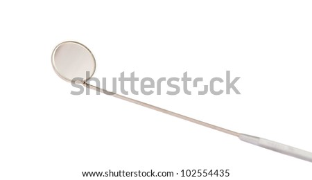 dental mirror isolated on white background - stock photo