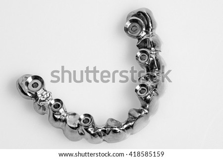 dental prosthetics  for dental implants - stock photo