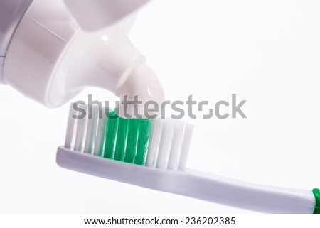 Dental. Toothbrush with a toothpaste - stock photo