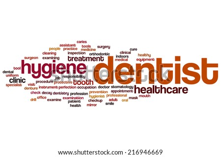Dentist concept word cloud background - stock photo