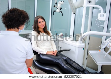 Dentist in a dental clinic