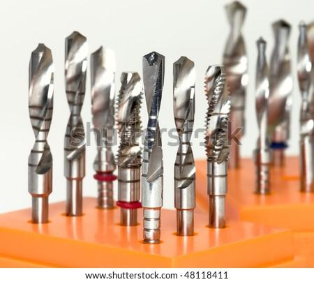 Dentistry. Dental Implantation Surgical Set - stock photo