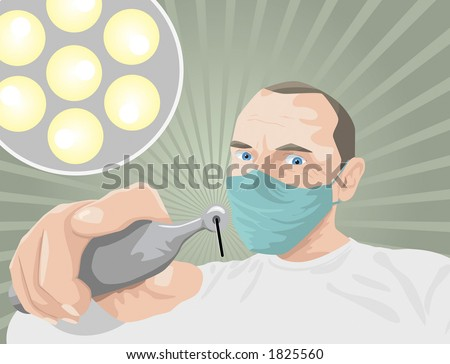Dentophobia - Fear of the dentist - stock photo